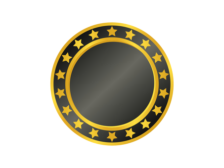 Medal Icon 12 Gold (Black)