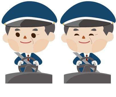 中間司機司機 - 前面(有帽子)