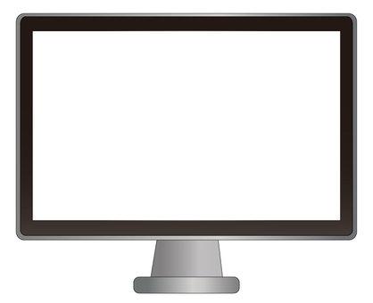 電腦顯示器屏幕為白色