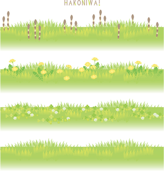 Spring background parts set 01