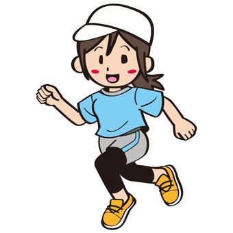 慢跑的婦女