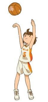 バスケ部の女の子