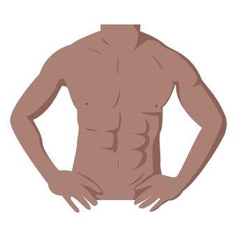 Diet - upper body of a man