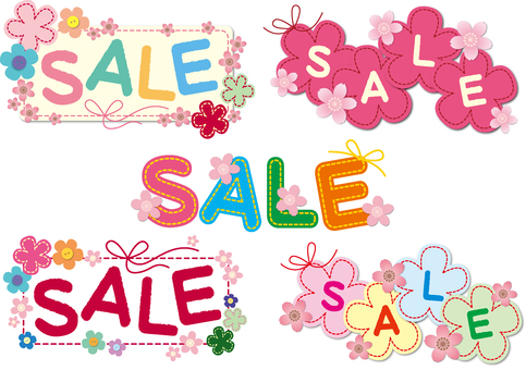 Sale set (applique · cherry blossom increment)