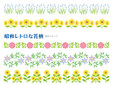 Showa retro floral summer image