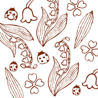 Lily of the valley (line drawing)