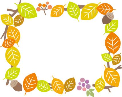 Leaf rectangular frame