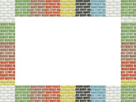 Colorful brick wall frame