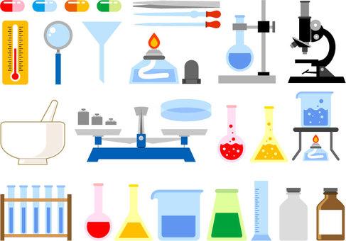 Laboratory instrument set