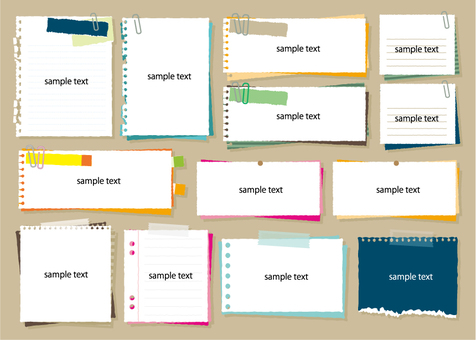 Simple memo pad set 4