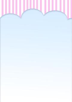 Stripe leaflet material _ pink