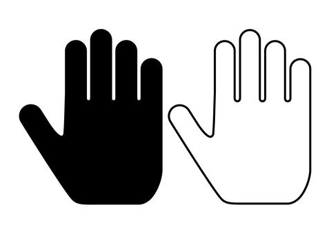 Hand sign A