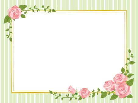 Pink rose picture frame style frame decoration frame 02