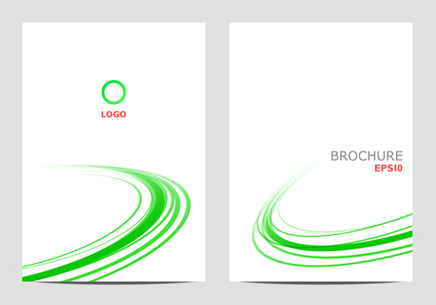 Brochure template green round