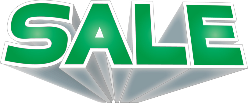 SALE 3D logo green