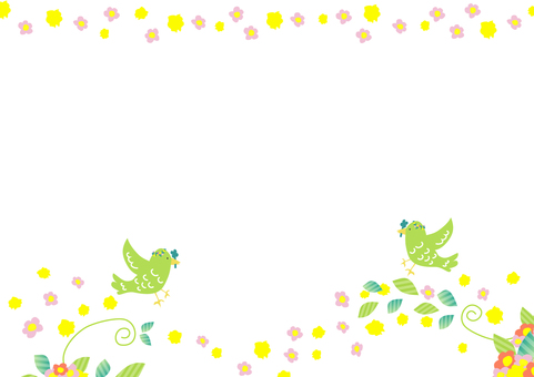 Flower Bird Frame