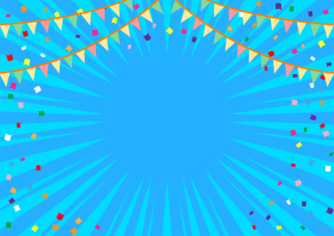 Focus line background with flag and confetti