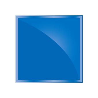 Shiny rectangular icon button