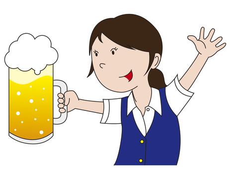 Cheers with beer _ Clerk 3