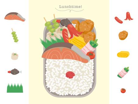 午餐盒和配菜