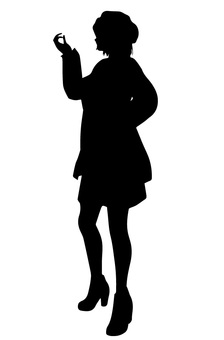 Female silhouette (pose)
