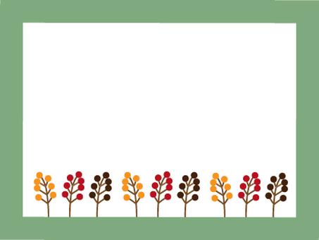 Fruit frame of tree