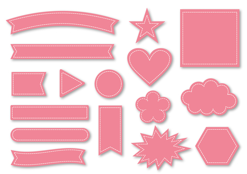 Title Ribbon collection _ Pink