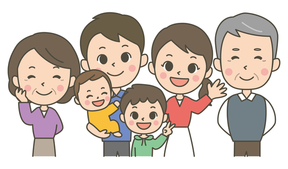 Three generation six family (boy)