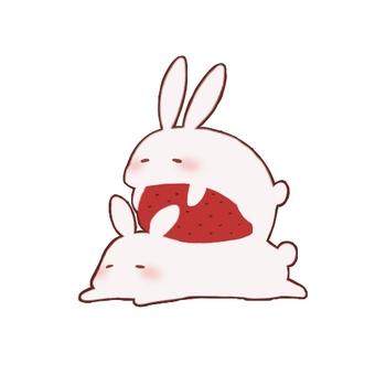 Rabbit like strawberry daifuku