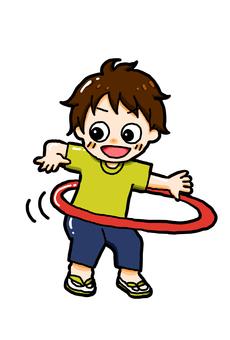 Hula hoop child (color)