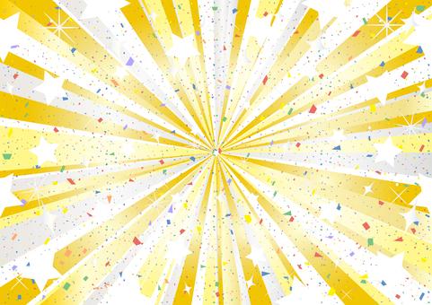 Metal concentration line confetti star