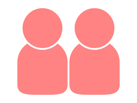 People icon (2 people) Pink