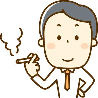 담배를 피우는 남성