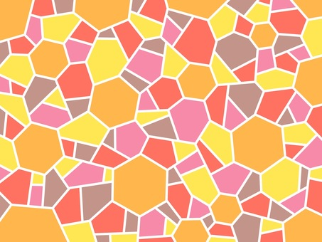Mosaic orange hexagon wallpaper