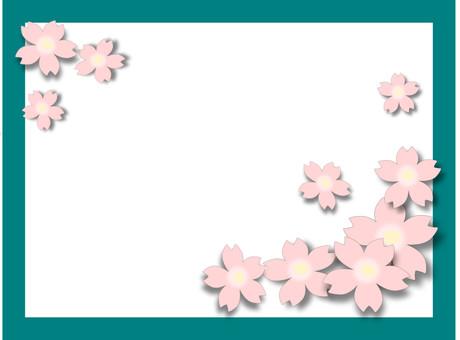 櫻花圖黑板圖像