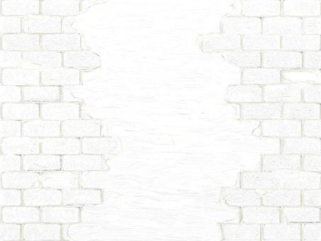 Retro white brick and plaster wall background