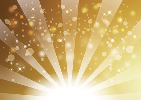 Radial background of gold background
