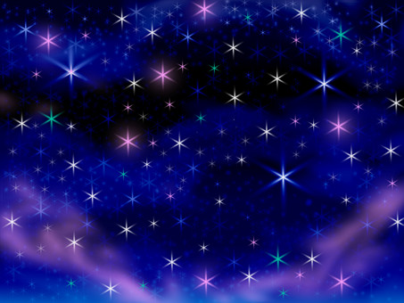 Starry sky image illustration