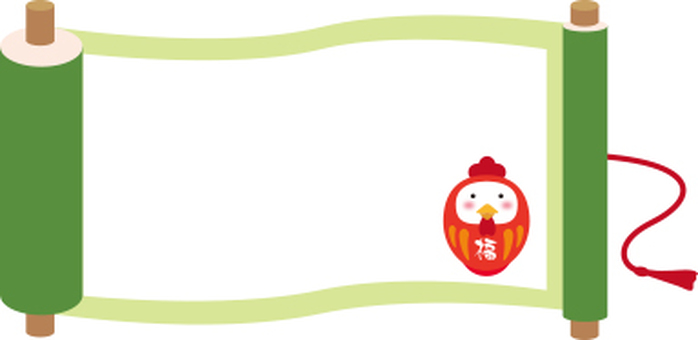 Scroll frame of chicken dalma