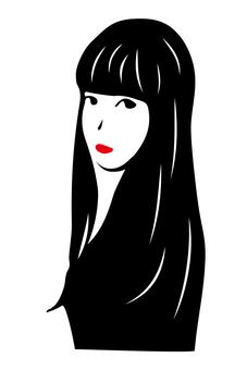 Black hair long girls