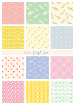 Simple handwritten pattern set