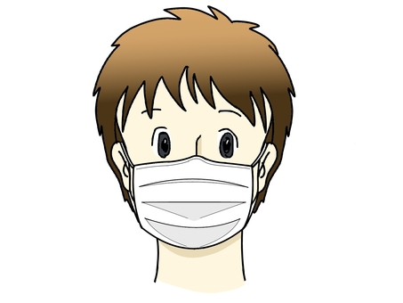Person wearing a mask