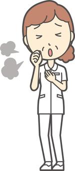 中年婦女護理白大衣-162-全身