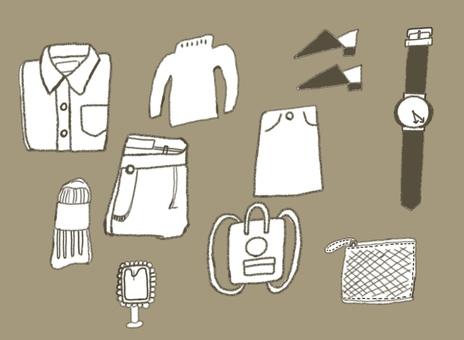 洋服・小物素材セット