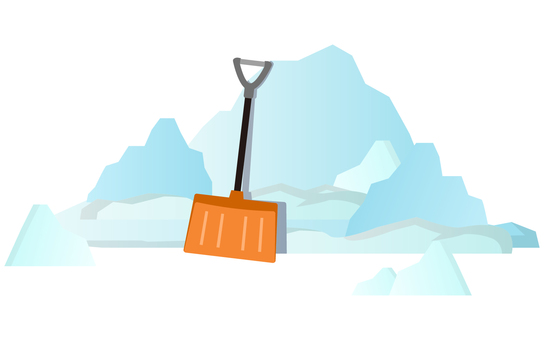 Snow and snow shovel