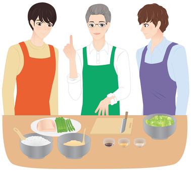 料理教室に通う男性