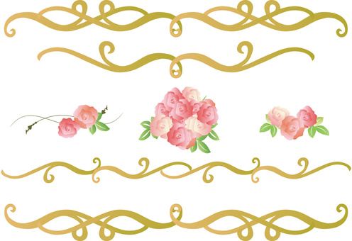 玫瑰装饰黄金