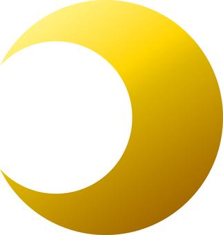 Crescent _ Metallic _ Gold