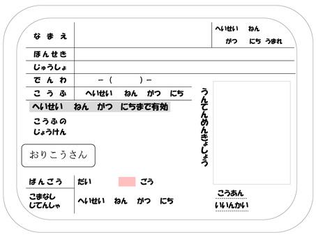 Child's driver's license