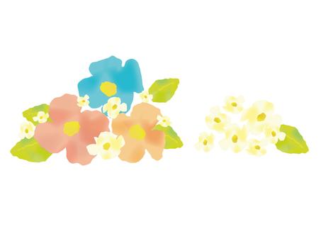 수채화 풍의 꽃